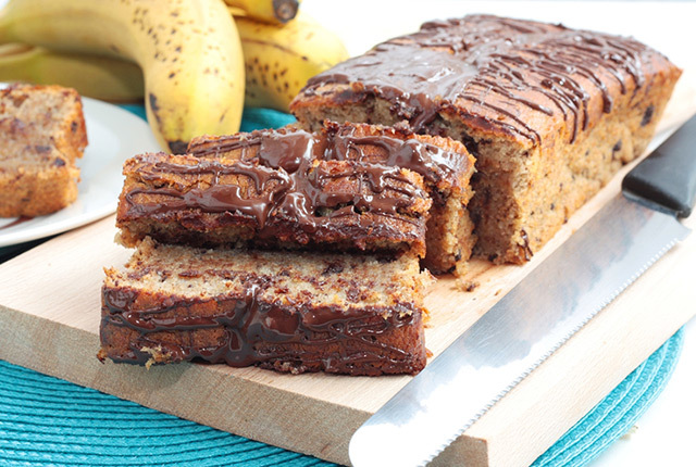 Sugar Free Chocolate Banana Loaf