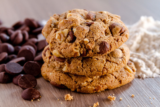 Chocolate Avocado Walnut Cookies